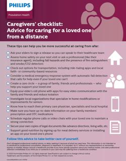 Caregiver Checklist