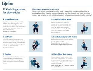 Lifeline Chair Yoga Exercises